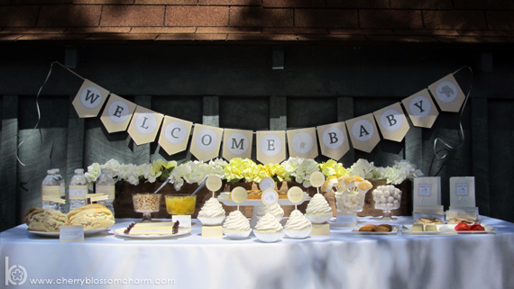Gray Yellow Gender Neutral Baby Shower