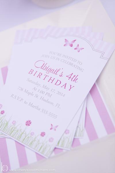 Garden Birthday Party Invitation