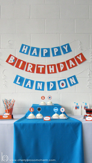 Orange and Blue Monster Birthday Party Printables
