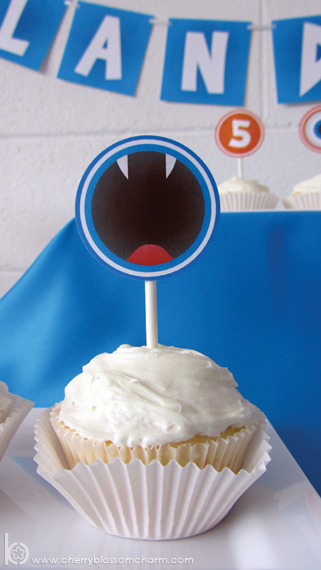 Printable Monster Cupcake Topper