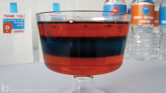 Orange and Blue Jello at Monster Party