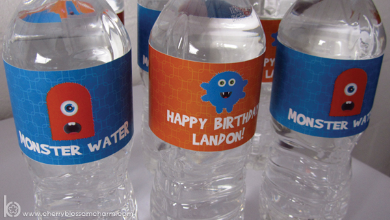 Printable Labels for Monster Birthday Party