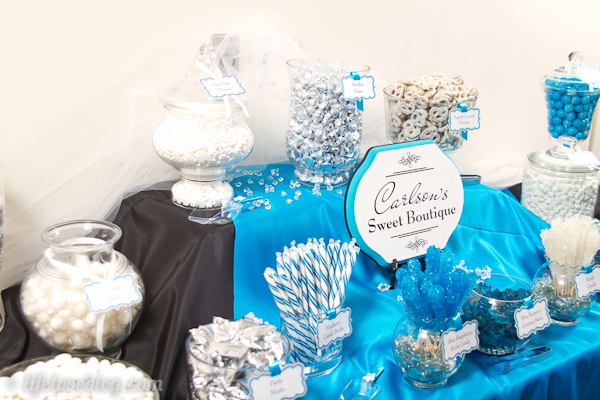 Blue Wedding Candy Buffet