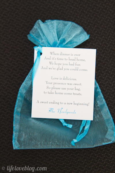 Favor Tags and Bags for Wedding Candy Buffet