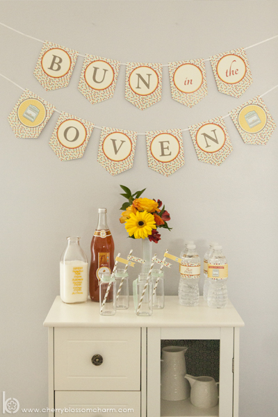 Bun in the Oven Baby Shower Drink Stand