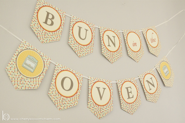 Bun in the Oven Baby Printable Shower Banner