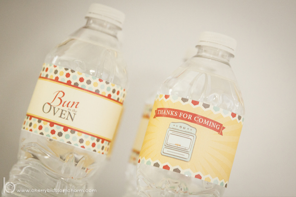 Bun in the Oven Baby Shower Printable Water Bottle Labels - Gender Neutral Baby Shower Printables