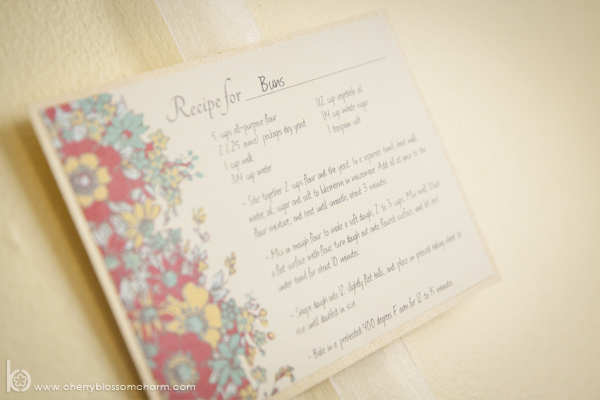 Bun in the Oven Baby Shower Decor - Hanging Recipe Card Display - Great for Baking Themed Parties