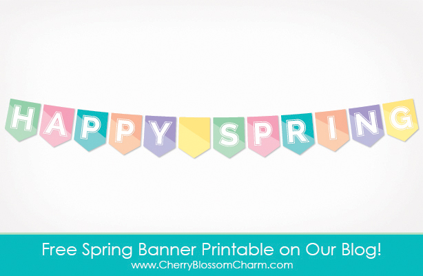 Free Printable Happy Spring Banner