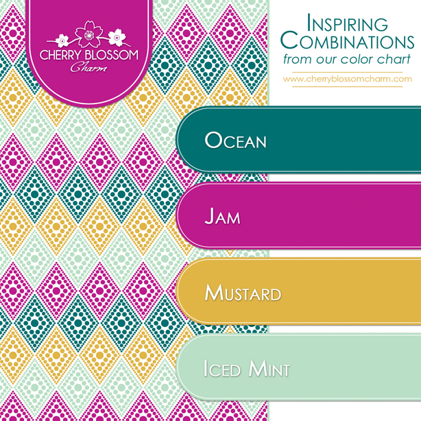Mint Mustard Purple Color Combo