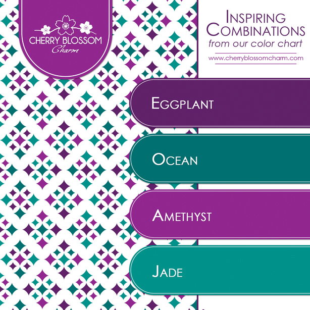 Eggplant Amethyst And Jade Color Combination Charming Printables